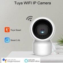 كاميرا Tuya Smart 1080P مزودة بخاصية WiFi وخاصية IP مع خاصية تكبير الإمالة في اتجاهين للعناية بالطفل من Amazon Alexa Google Home التحكم الصوتي والفيديو