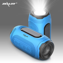 ZEALOT A4 Wireless Bluetooth 5.0 Speaker Solar charging Outdoor IPX5 Waterproof Audio Subwoofer Wireless Speakers with Mic