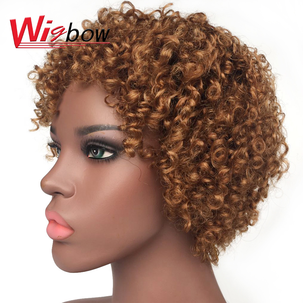Kinky Curly Wigs For Women 180% Density Human Hair Wig Natural Color Human Hair Wigs Fast