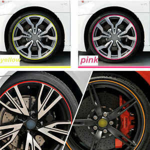Image 3 - Car Accessories Universal 8M Car Sticker Decal Rim Rubber Strip Protection Color Car Tire Decorative Protector Car Styling TSLM2