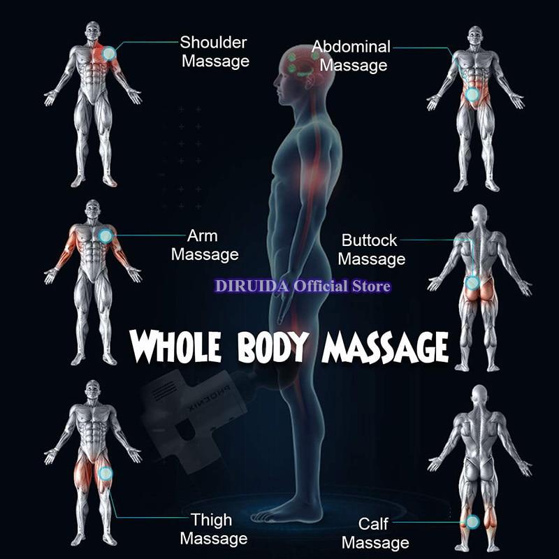 tecido profundo corpo massageador terapia arma exercício