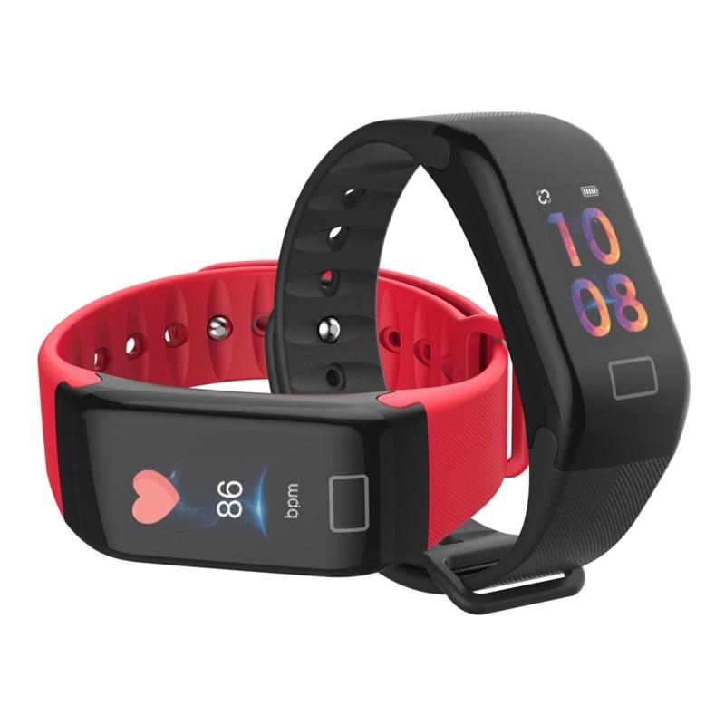 F1 Plus Smart reloj banda Color pantalla impermeable deportes pulsera inteligente presión arterial Monitor de ritmo cardíaco reloj inteligente pulsera 19 Uds. De instrumentos musicales de percusión Set de ritmo y música para niños pequeños juguetes educativos banda de sonajeros de Madera Juguetes para regalo de niños
