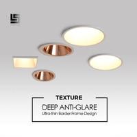LED Downlight Anti reflexo Fronteira Estreita suavizar luz casa iluminação Embutida Lâmpada de Teto alto lúmen alto brilho luz do ponto|Iluminação especial p/ engenharia| |  -