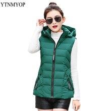 YTNMYOP плюс размер 3XL 4XL Жилеты с капюшоном для женщин Женская куртка пуховый жилет Abajo жилет женский теплый зеленый жилет топы