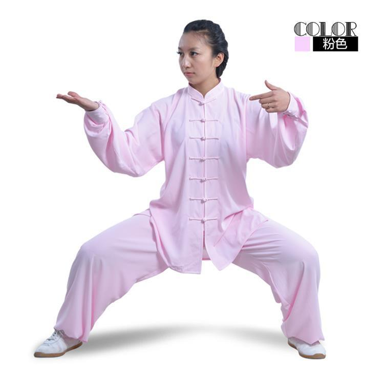 Shilin Natural Cotton Linen Tai Chi Clothing Women's Autumn And Winter Chinese-style Tai Chi Clothing Middle-aged Martial Arts E