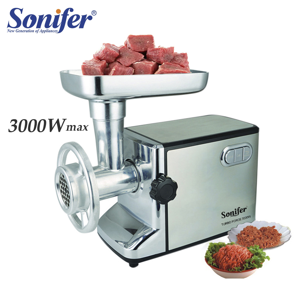 3000W Powerful Electric Meat Grinders Meat Mincer Stainless Steel Body Heavy Duty Household Mince Sonifer|Meat Grinders| |  - title=