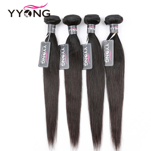 """Image 4 - YYONG saç brezilyalı düz paketler % 100% İnsan saç Remy saç örgü 1/3/ 4 demetleri anlaşma doğal renk 8 """" 30"""" saç ekleme"""