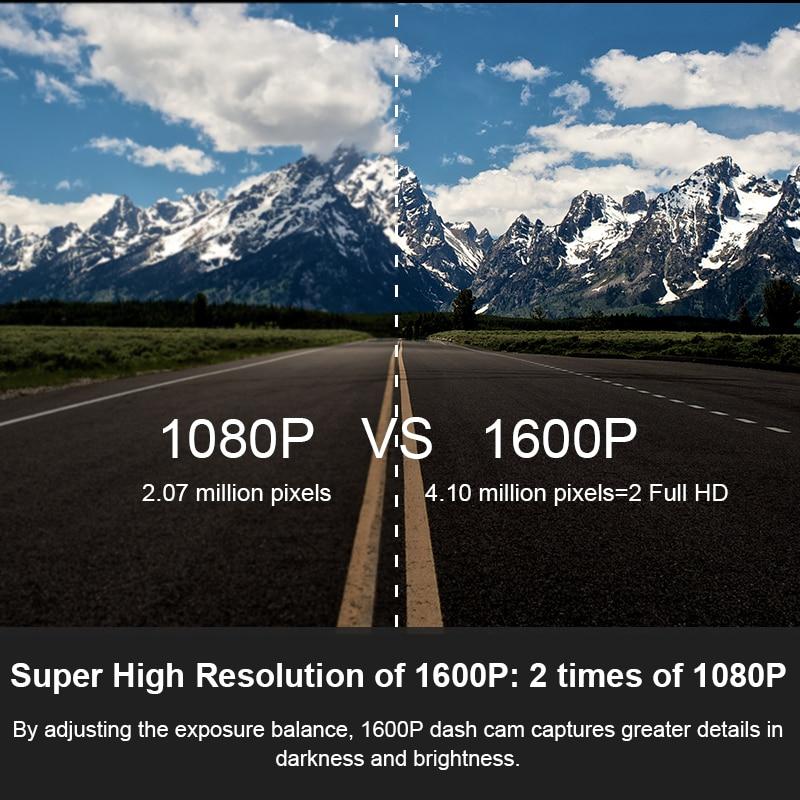 DDPAI Dash Cam Mini 3 1600P HD Dvr Car Camera Mini3 Auto Drive Vehicle Video Recroder 2K Android Wifi Smart 24H Parking Camera