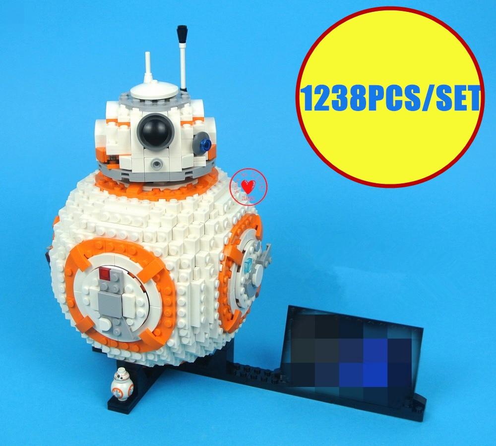 Nowy 1238 sztuk Starwars Bb8 Technic robota pasuje do gwiezdne wojny figurki miasto Model Building Block cegły chłopcy prezent zestaw zabawek dziecko chłopiec urodziny w Klocki od Zabawki i hobby na  Grupa 1