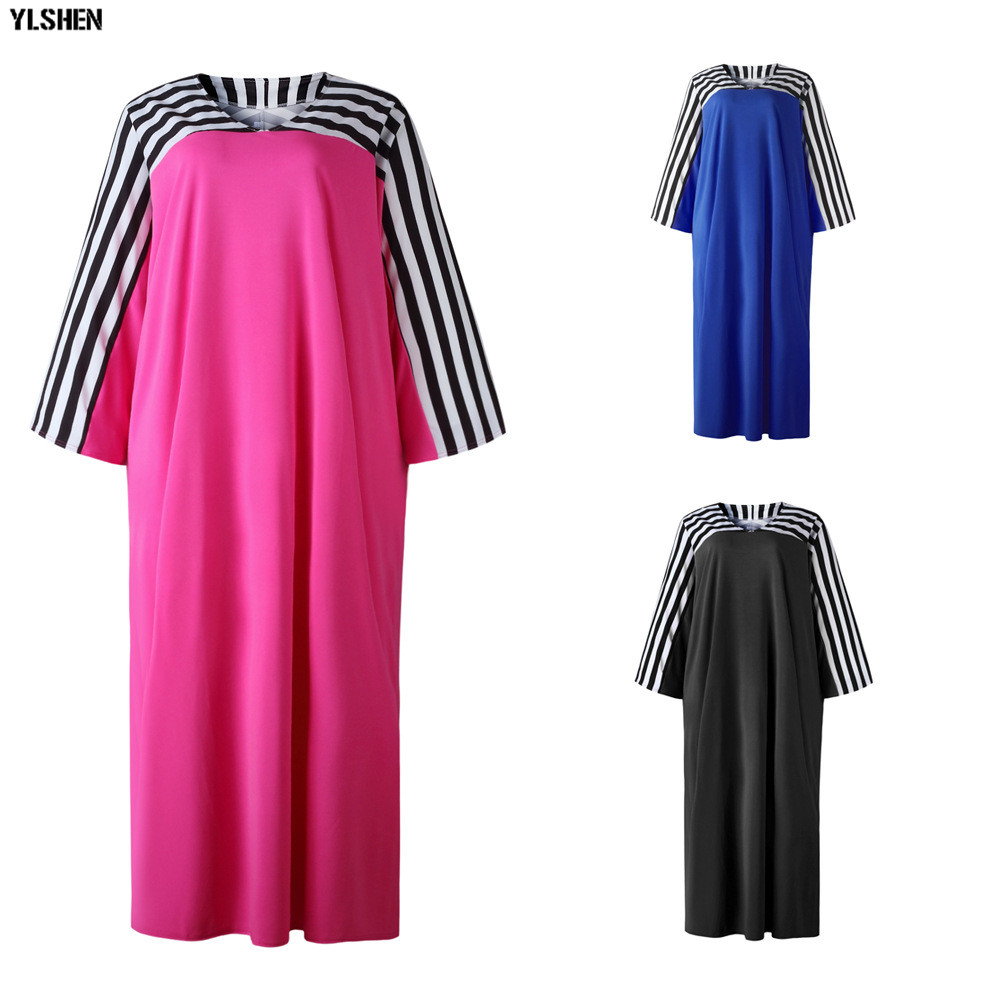 Super Size African Dresses for Women Dashiki Stripe African Clothes New Bazin Riche Sexy V-neck Long Africa Dress Woman Clothing 18