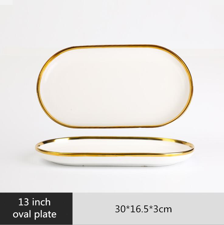 13 inch Oval plate