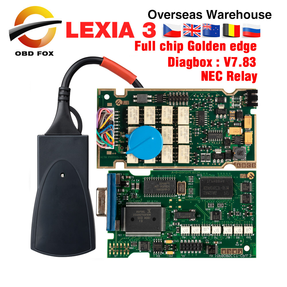 Lexia 3 Full Chip Lexia3 V48/V25 Newest Diagbox V7.83 PP2000 Lexia 3 Firmware 921815C for Peugeot for Citroen Diagnostic Tool-in Car Diagnostic Cables & Connectors from Automobiles & Motorcycles