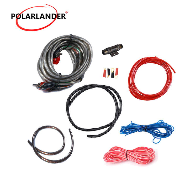 1500W 4GA Car Audio Wires Cable 4GA Power Cable Installation Kit New 60 AMP Fuse Holder Amplifier Subwoofer Speaker Whole Sale