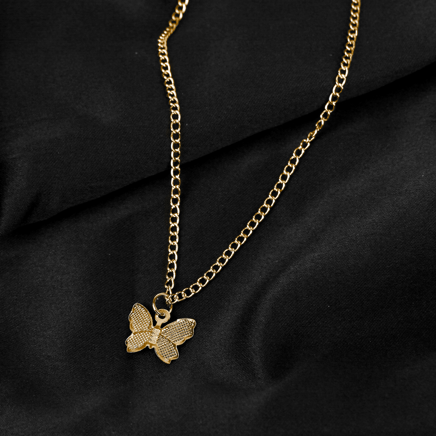Gold Chain Butterfly Pendant Choker Necklace Women Statement Collares Bohemian Beach Jewelry Gift Collier Cheap - necklace-pendant