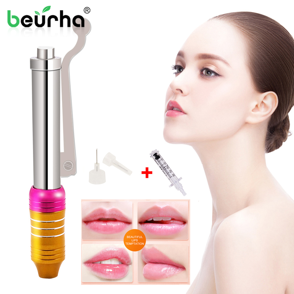 Painless Lip Injection Hyaluronic Pen Needle-Free Hyaluron Pen For Lip Lifting Anti Wrinkle Hyaluronic Acid Atomizer Syringe