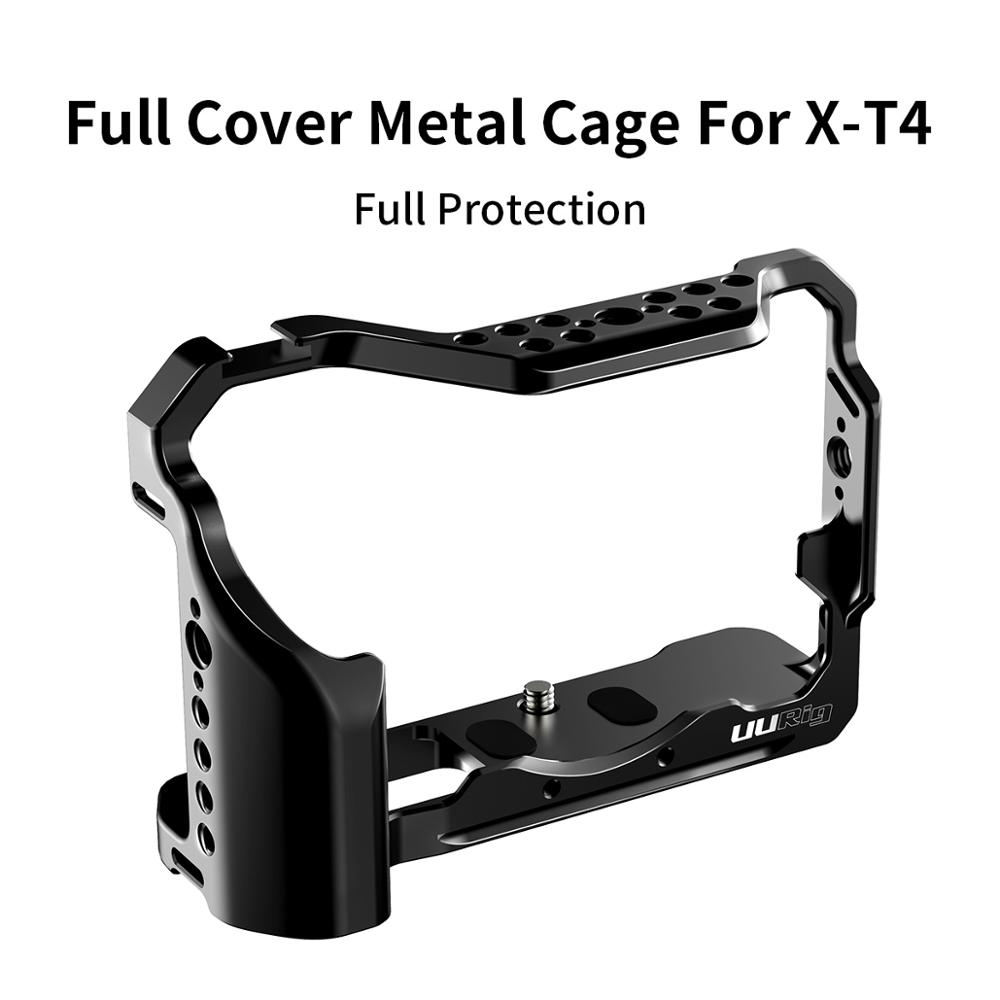 UURig C-XT4 Camera Rig  Metal Cage For FUJIFILM X-T4 XT4 Formfitting Full Cage With Cold Shoe Mount Mutiful Thread Holes