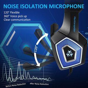 Image 4 - Gaming Headset Stereo Umgeben Tiefe Bass LED Licht Kopfhörer Über Ohr Kopfhörer mit Licht für LOL PC Laptop Gamer