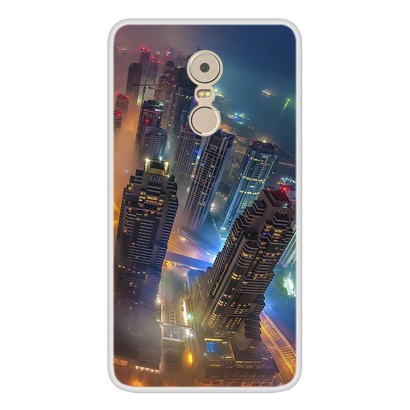 Case untuk Lenovo K6 Catatan Lembut Silicone TPU Bermotif Keren Lukisan Ponsel Cover UNTUK LENOVO K6 Note Cover saham