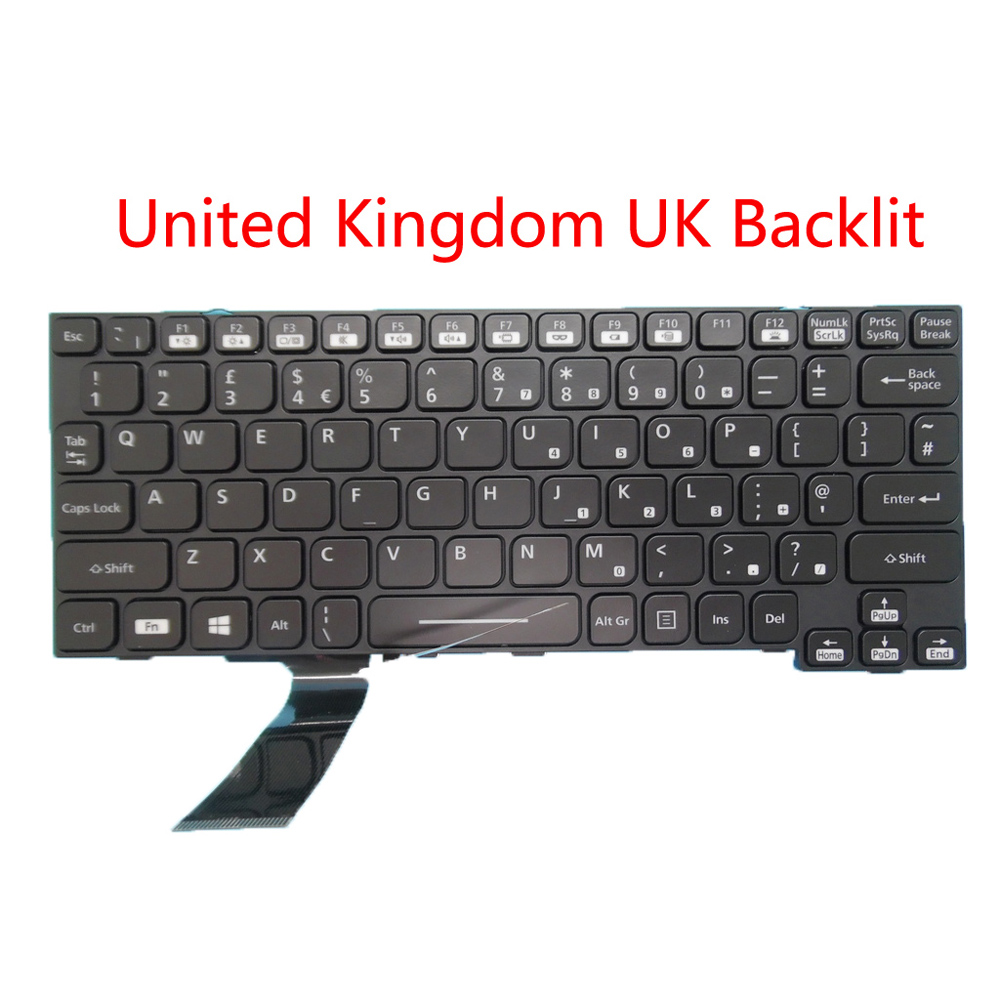 Laptop Keyboard for Panasonic Toughbook CF-20 HMB8359CPB10 01A United Kingdom UK Black Without Frame New and Original