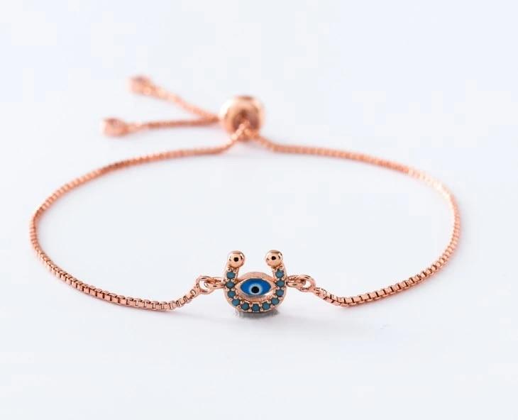 10Pcs CZ crystal Boho Eye Double Bails Charm,CZ zircon Micro pave Connector,Jewelry Finding DIY Bracelet necklace making CT133