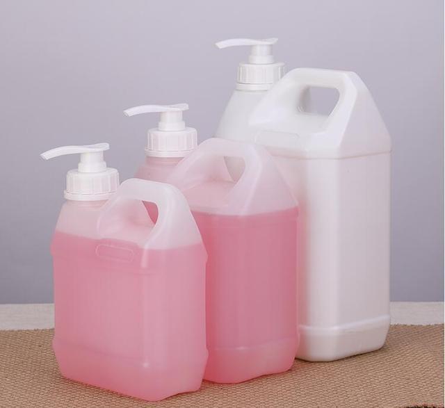 כיכר סבון Dispenser בקבוק קרם ג ל רחצה Foor כיתה HDPE מיכל עם משאבת 1PCS