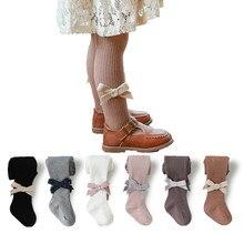 0-8yrs meninas meia-calça primavera outono algodão com nervuras crianças collants para meninas meia criança leggings crianças tempo frio roupas