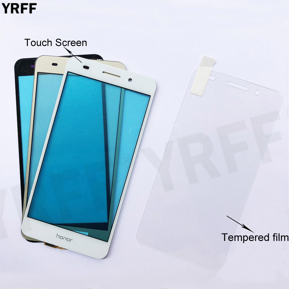 Touch For Huawei Y6 II Y6II Touch Screen Digitizer Sensor Glass Panel Replacement Free Tempered glass Film