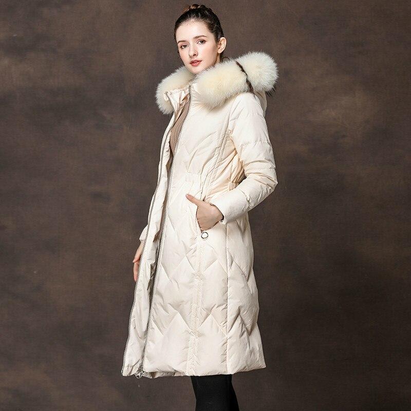 Autumn Winter Coat Women Clothes 2020 Parka Fox Fur Collar Female Jacket Korean White Duck Women's Down Jacket Tops ZT3694
