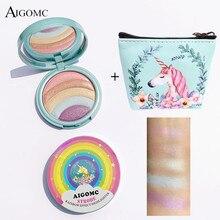 AIGOMC yeni göz farı disk parlak gökkuşağı beş renkli toz disk güzellik makyaj renkli yüksek parlak göz gölge kutusu