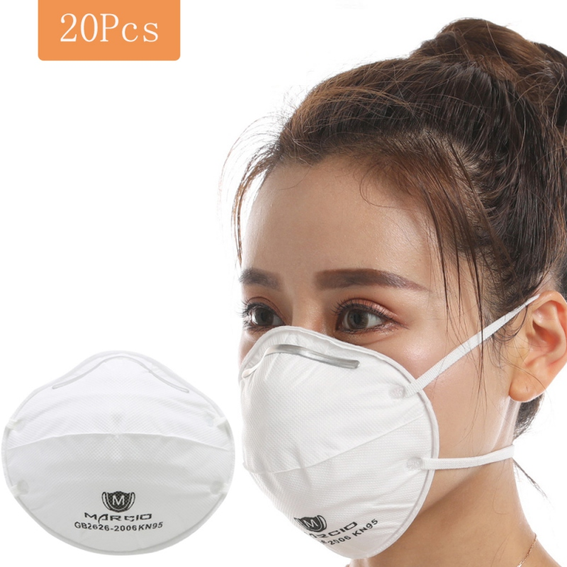 Women and Men Anti Pollution PM2.5 Mask 20* Pack 3 Layers Particulate Respirator Protective Safety Face 20 PCS Masks