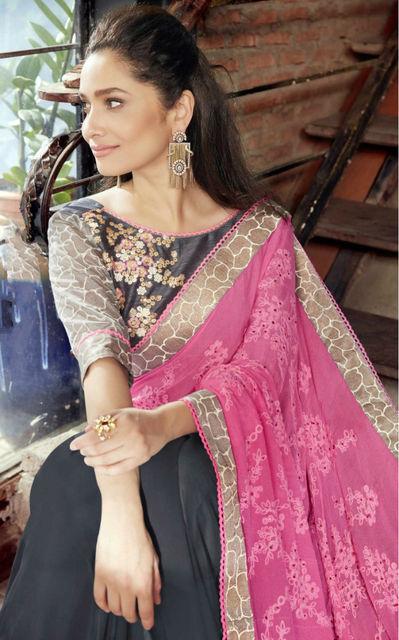 Sarees for Women in India Indian Sari Traditional Costume Embroidery Chiffon Saari