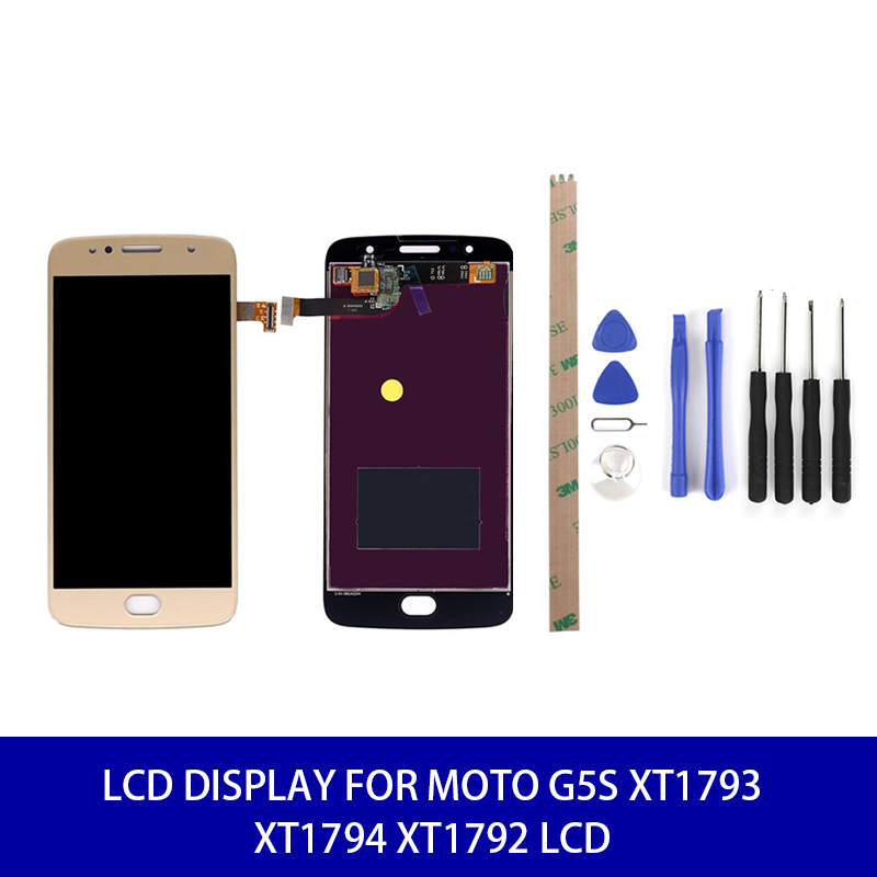<font><b>LCD</b></font> Display For Moto G5S XT1793 XT1794 <font><b>XT1792</b></font> <font><b>Lcd</b></font> Display Screen Touch Digitizer with Frame Assembly Replacement 1920 * 1080 image