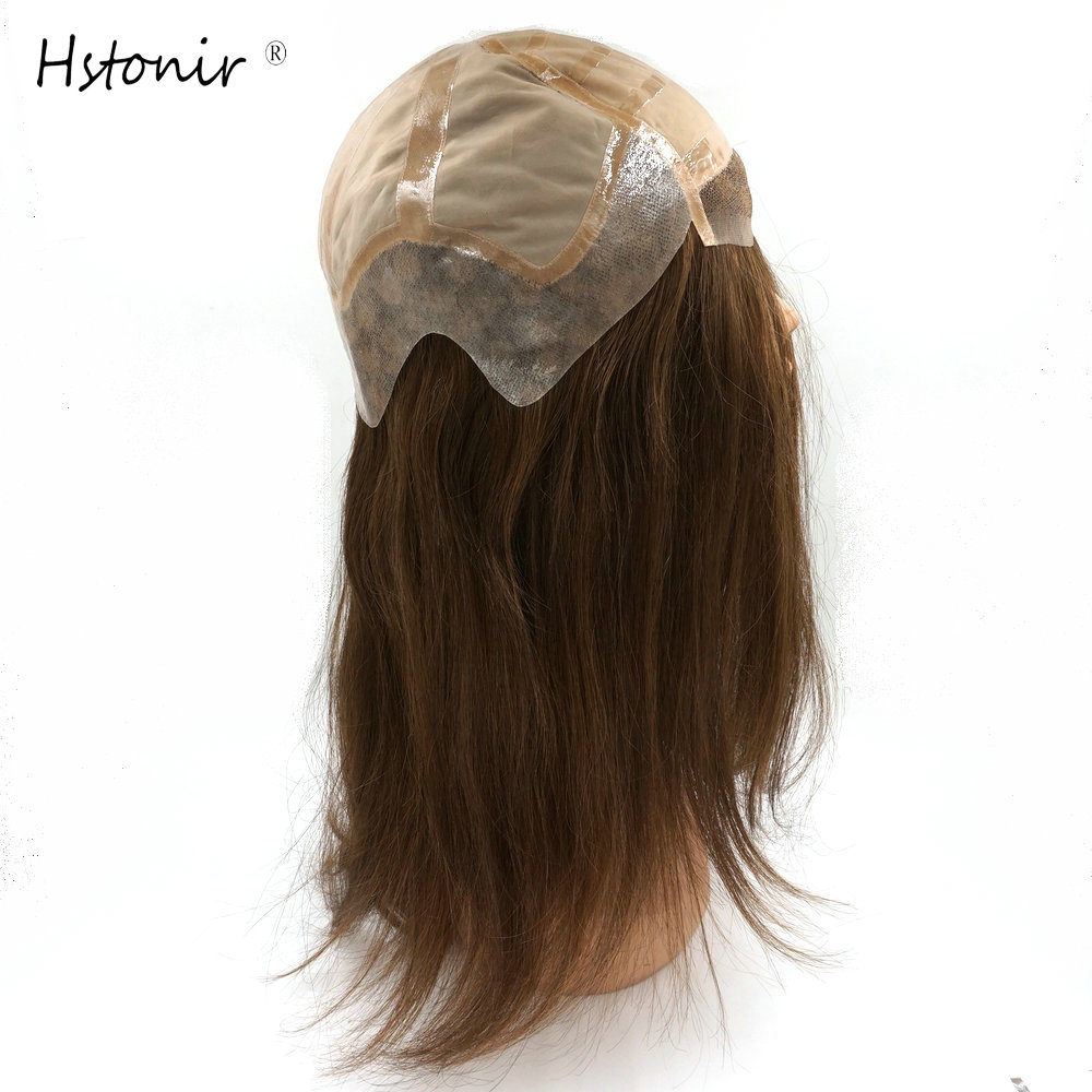 Hstonir Hair Products Welded Lace Silk Top European Remy Hair 15