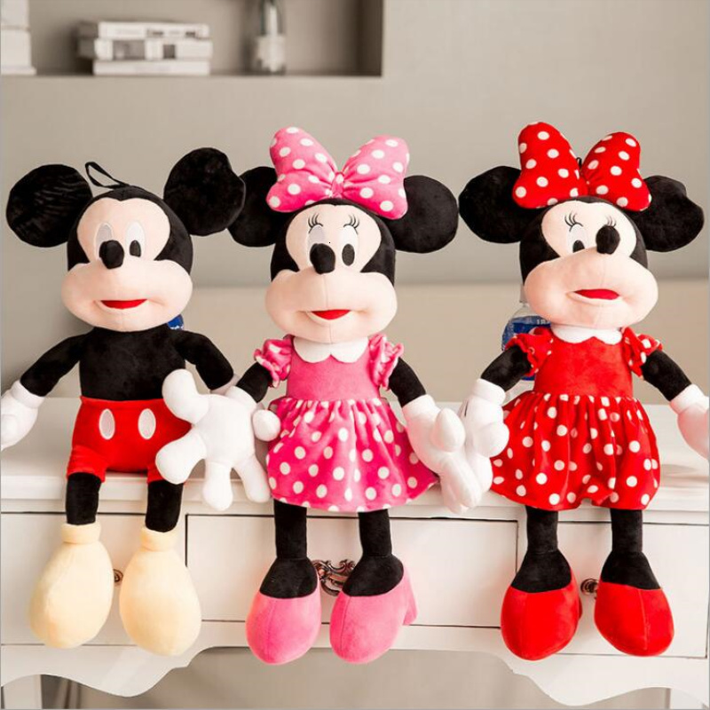 Disney Mickey Mouse 20--30cm High Quality Soft Children's And Mickey Mouse And Minnesota Mouse Plush Toy Mouse Shape Toy