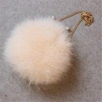 Winter Handbags Totes Fur Plush Ball Bags Small Shoulder Bag Fashion Women Turkey Hair Bags Soft Pink Ladies Messenger Bags