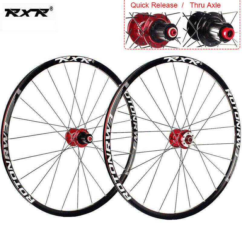 "RXR 26"" 27.5"" 29"" MTB Bicycle Wheel Mountain Bike Wheelset 7-11 Speed Front Rear Rim Wheelsets Fit Shimano SRAM Cassette"