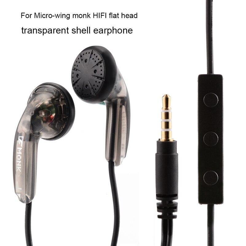Girişim elektronik VE keşiş artı kulaklık kablolu fone de ouvido düz kafa kulaklıklar yüksek empedans 3.5mm kulaklık mikrofon