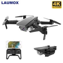 LAUMOX M71 720P RC Drone 4K optyczny przepływ kamera HD Mini składany Quadcopter WIFI FPV Selfie drony Quadrocopter zabawka VS KF609 tanie tanio 720 p hd video recording Kamera w zestawie Brak Build-in 6 Axis Gyro 4 kanałów 2 4Ghz M71 Drone App kontroler Połączenia wi-fi