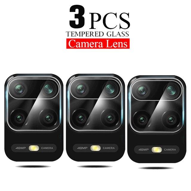 3Pcs Camera Lens Glass For Xiaomi Redmi Note 10 9s 7 8 9 Pro 9T 8T 9C Screen Protector poco F3 f2 X3 Pro Glass For Mi 11i lite 1