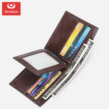 New men's short leather wallet large capacity multifunctional driver's license card package three folding card package ASBD031