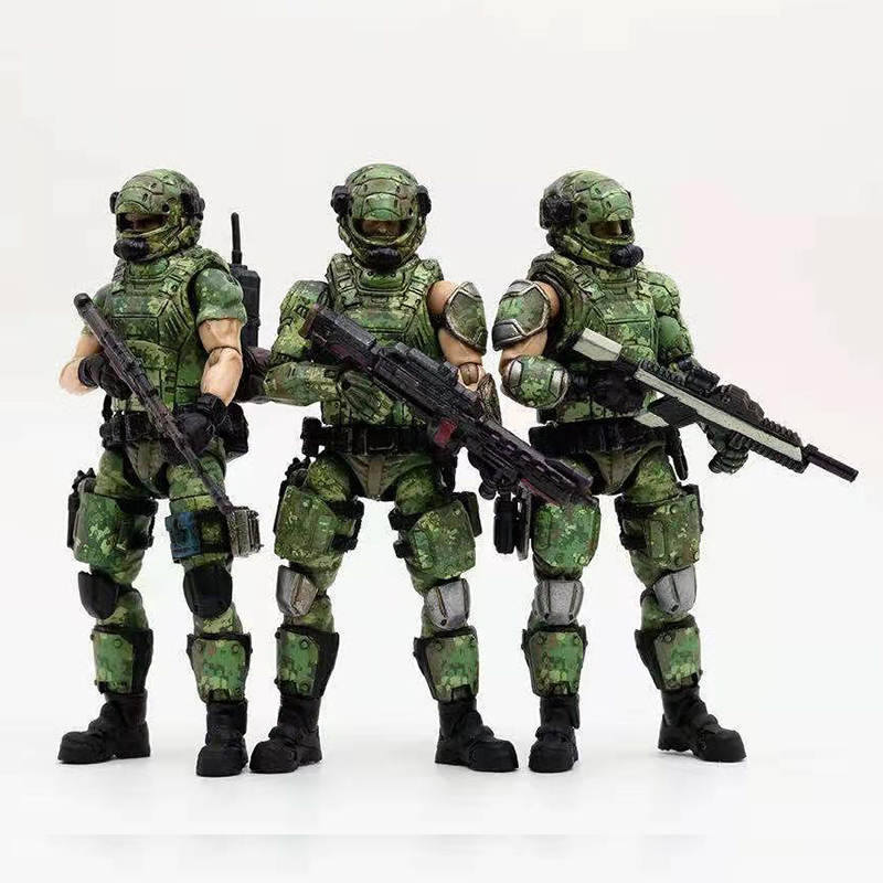 1/18 JOYTOY Action Figure Russian Army  Camouflage Uniform Soldier Figures Collectible Toy Military Model Christmas Gift For Men