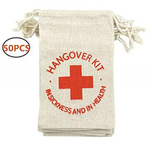 "50Pcs 4"" x 6"" Hangover Kit Bags Bachelorette Party Decorations  Party Wedding Favors and Gifts Box Event Party Supplies AA8217 2"