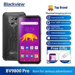 Смартфон Blackview BV9800 Pro IP68, 6580 мАч, тройная камера Super AI 48 Мп + 16 Мп + 5 МП, 6 ГБ + 128 ГБ, 6,3 дюйма FHD + Grobal, 4G мобильный телефон