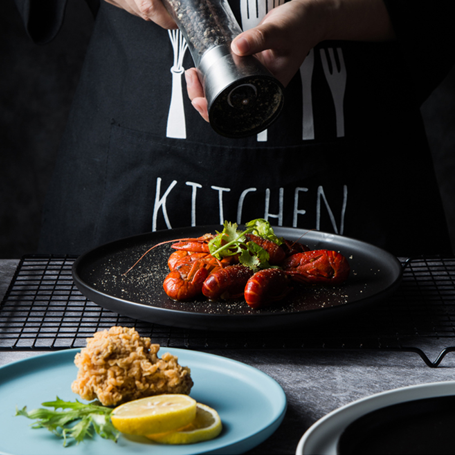 MUZITY assiettes en céramique avec bols   Service de vaisselle en porcelaine, plats ronds et bols à soupe - 4