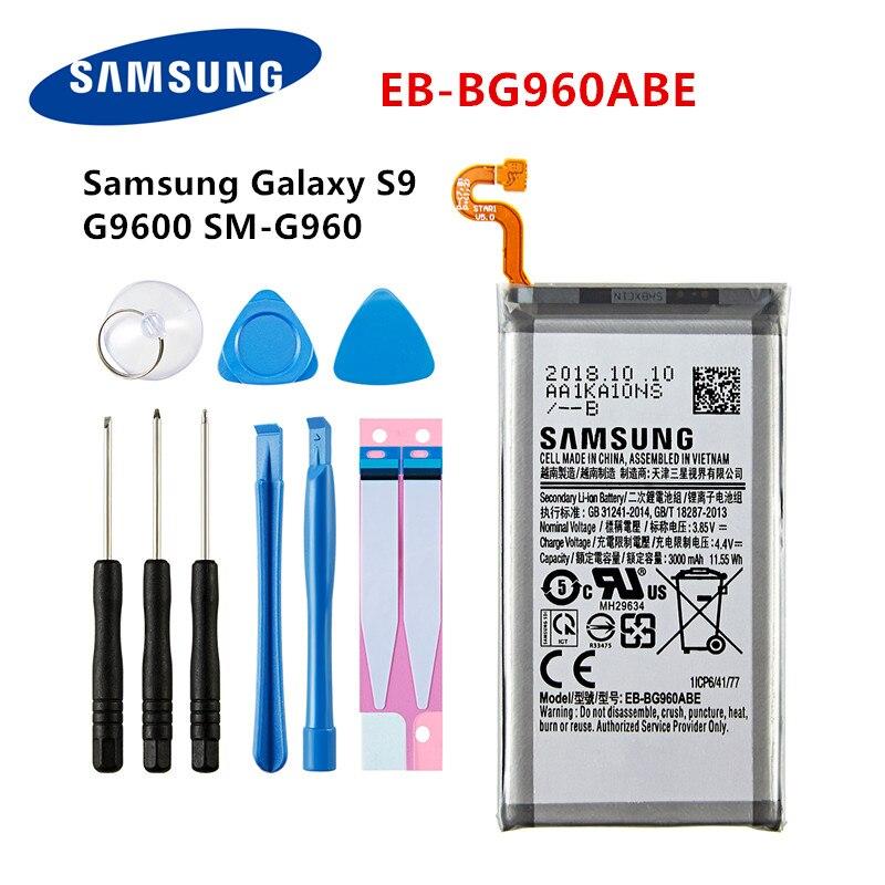 SAMSUNG Orginal EB-BG960ABE 3000mAh Battery For Samsung Galaxy S9 G9600 SM-G960F SM-G960 G960F G960 G960U G960W +Tools