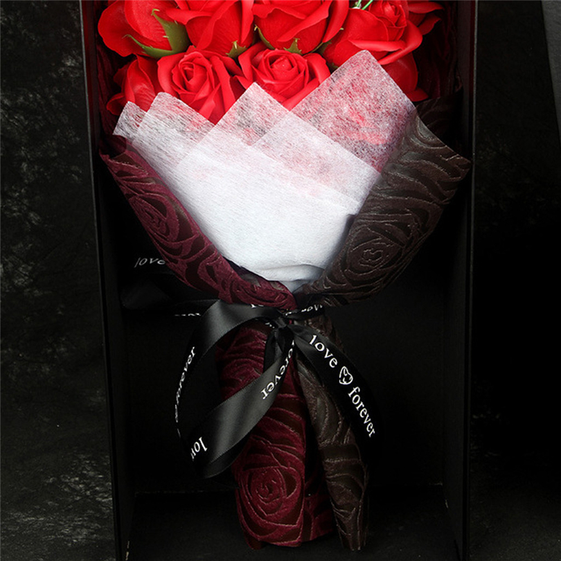 Rose Soap Flower DIY Valentine's Day Gift Rose Box Preserved Rose Flower Soap Bouquet Gift Box Wedding Party Decor - 6