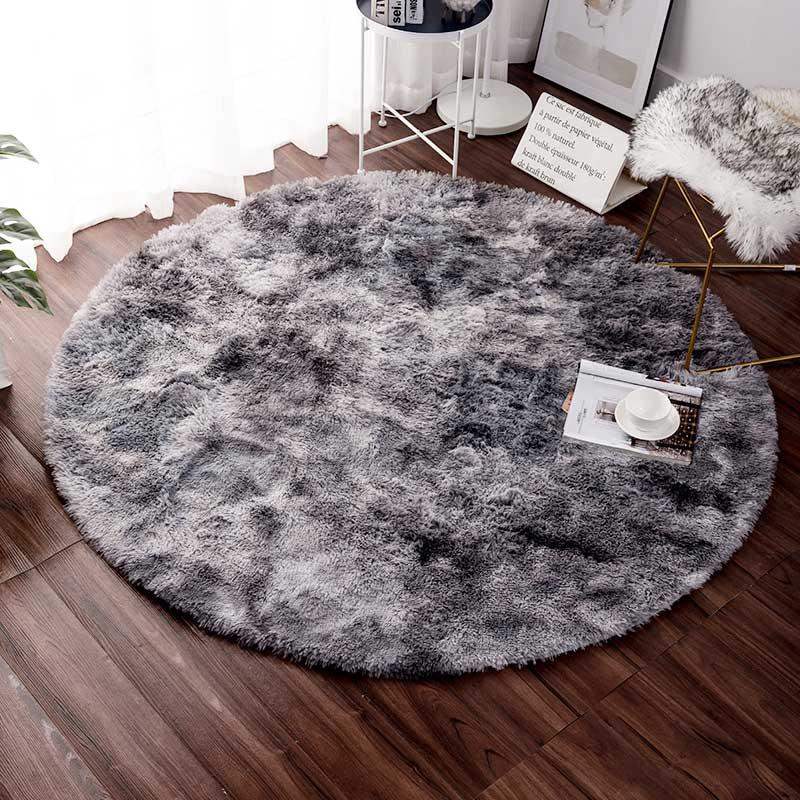 Tapis rond moelleux tapis pour salon décor fausse fourrure tapis enfants chambre longs tapis en peluche pour chambre tapis Shaggy tapis moderne