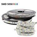 СВЕТОДИОДНАЯ лента SMD 5050 RGB, водонепроницаемый Светодиодный светильник 5 м, Диодная лента, Гибкий контроллер постоянного тока 12 В, красный, си...