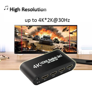 Image 5 - 1080P HDMI to HDMI Switcher 3x1 3 In 1 Out 4K Audio Extractor with Remote Audio HDMI In SPDIF Out for TV PC Projector Camera