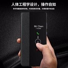 Funda para Huawei P30 Pro, funda abatible inteligente con ventana de vista, para Huawei P20 P30 Mate 20 Mate 30 Pro, Funda de cuero genuino